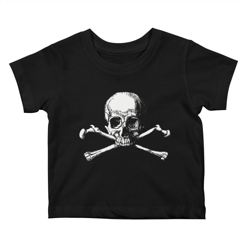 Jolly Roger Kids Baby T-Shirt by Brimstone Designs