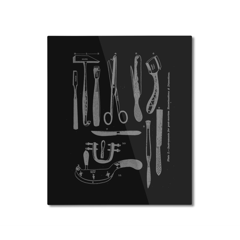 tool set Home Mounted Aluminum Print by Brimstone Designs