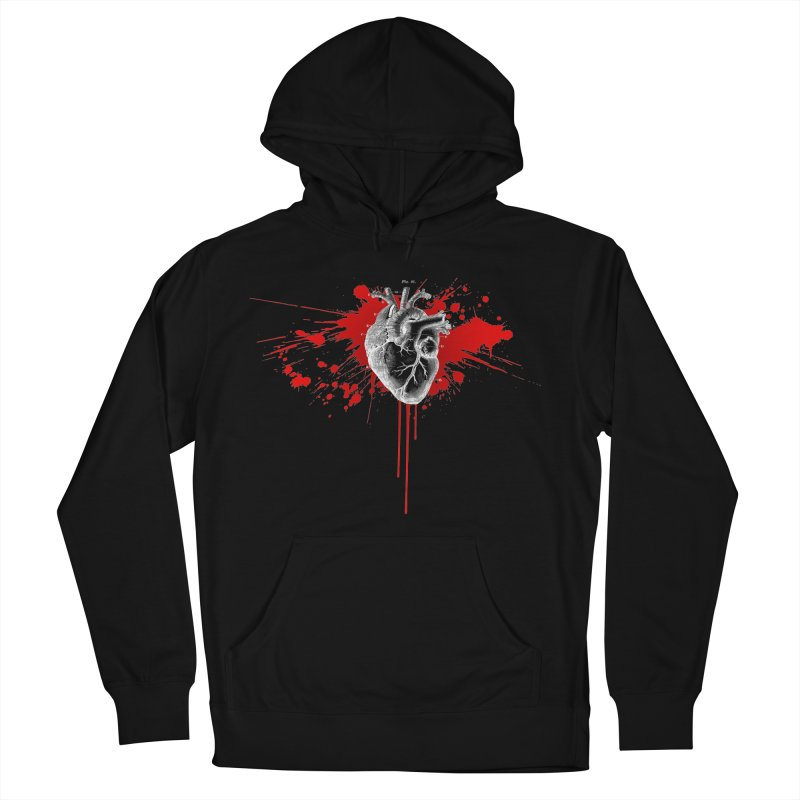 bleeding heart Women's French Terry Pullover Hoody by Brimstone Designs