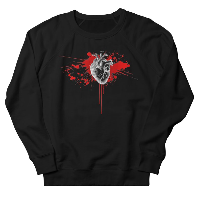 bleeding heart Women's French Terry Sweatshirt by Brimstone Designs