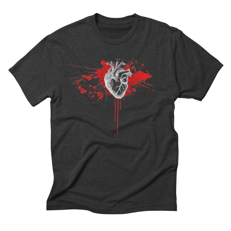 bleeding heart Men's Triblend T-Shirt by Brimstone Designs