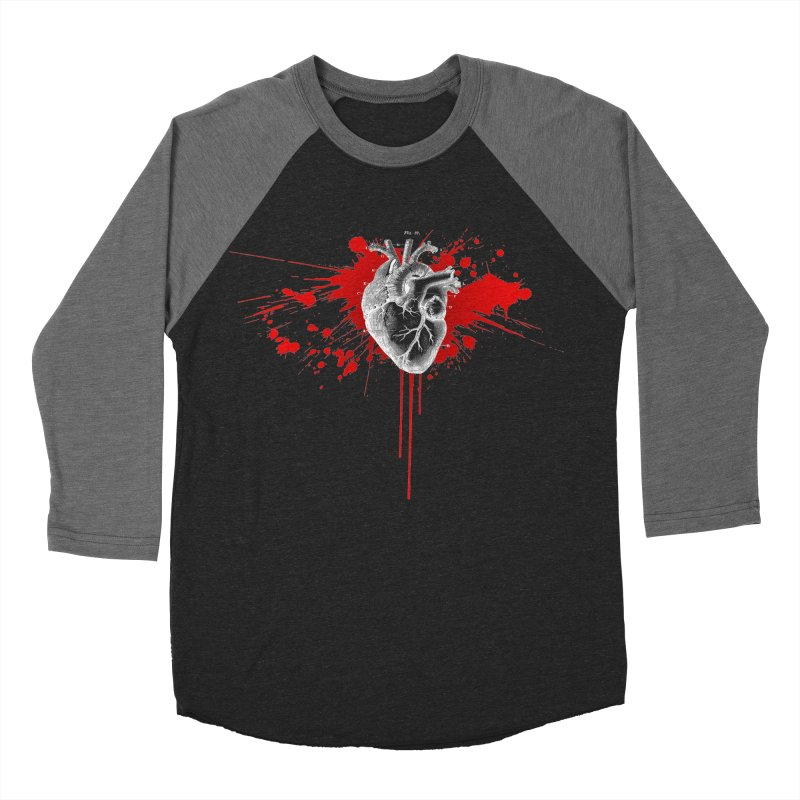 bleeding heart Women's Baseball Triblend T-Shirt by Brimstone Designs