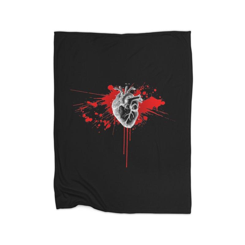 bleeding heart Home Blanket by Brimstone Designs