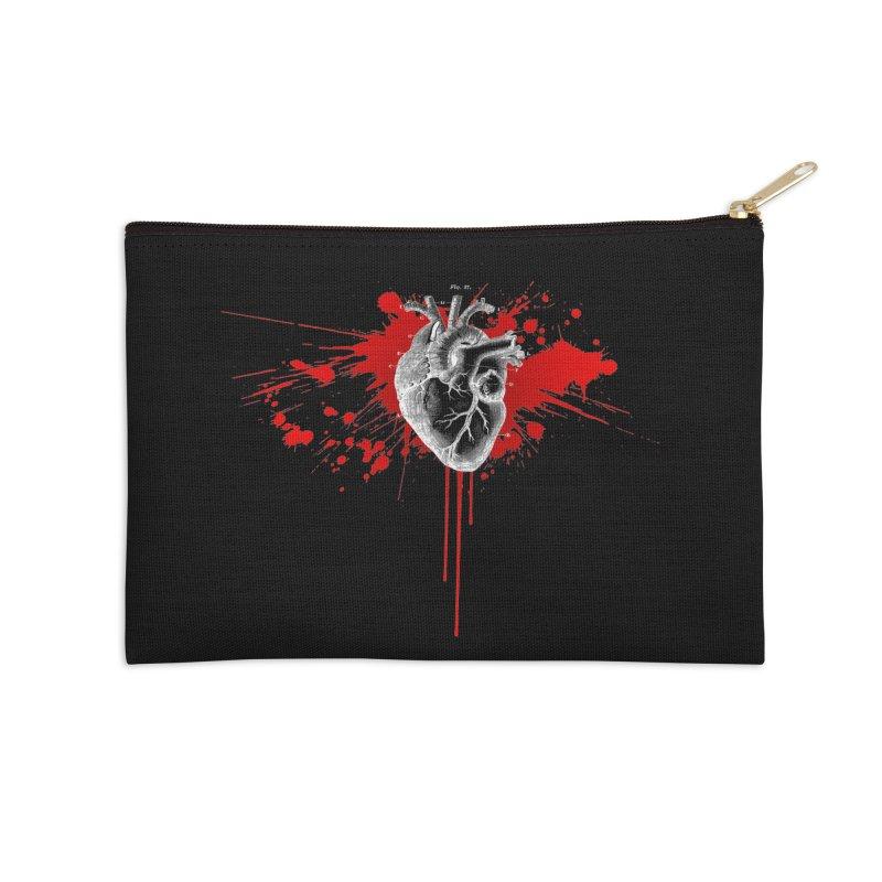 bleeding heart Accessories Zip Pouch by Brimstone Designs