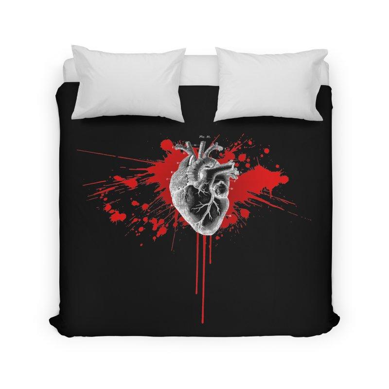 bleeding heart Home Duvet by Brimstone Designs
