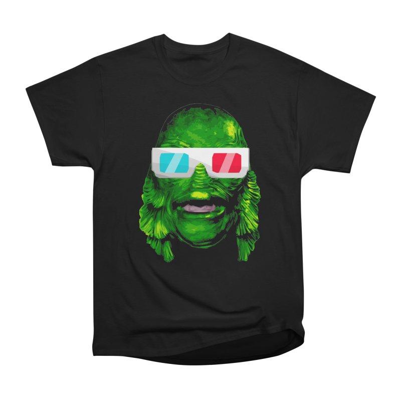 3-D MONSTER Men's Heavyweight T-Shirt by Brimstone Designs