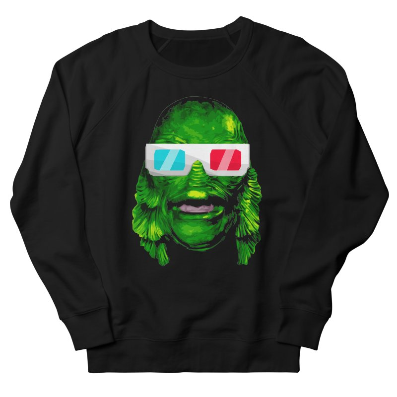 3-D MONSTER Women's French Terry Sweatshirt by Brimstone Designs