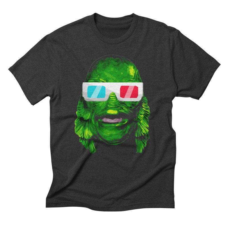 3-D MONSTER Men's Triblend T-Shirt by Brimstone Designs