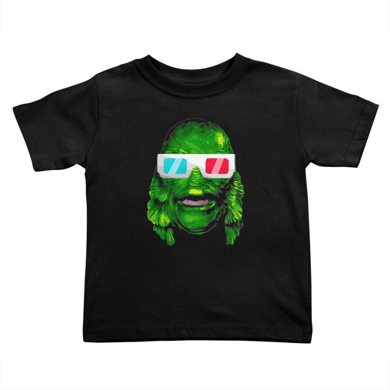 3-D MONSTER Kids Toddler T-Shirt by Brimstone Designs