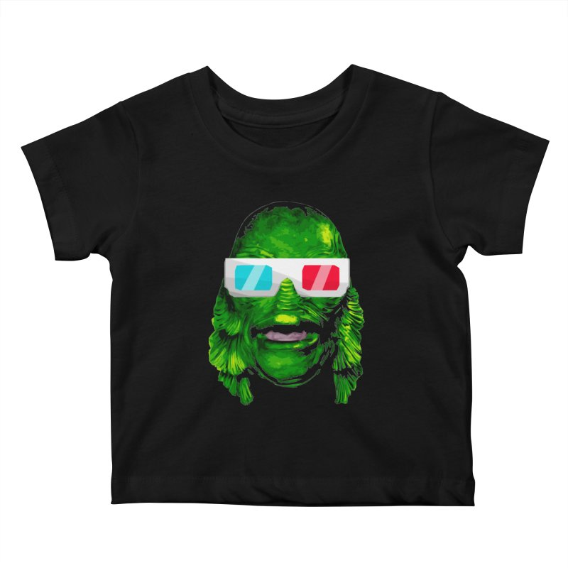 3-D MONSTER Kids Baby T-Shirt by Brimstone Designs