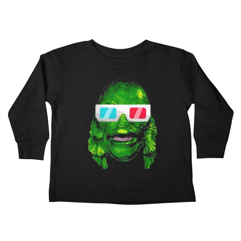 3-D MONSTER Kids Toddler Longsleeve T-Shirt by Brimstone Designs