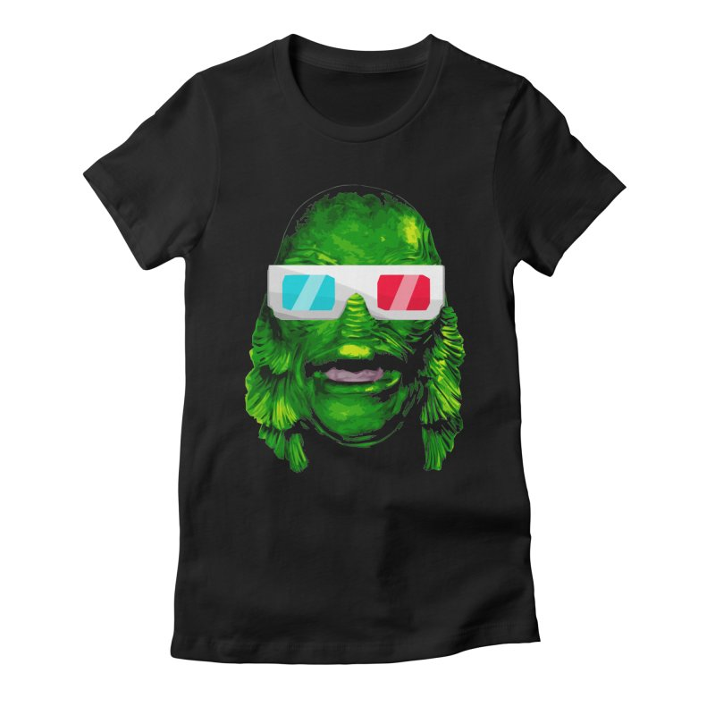 3-D MONSTER Women's Fitted T-Shirt by Brimstone Designs