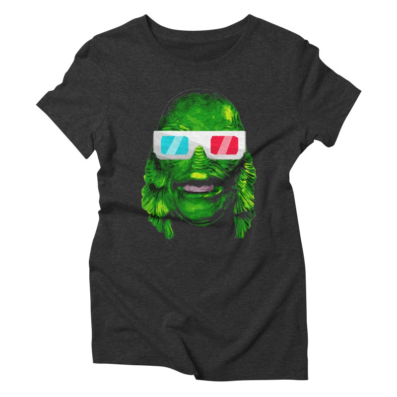 3-D MONSTER Women's Triblend T-Shirt by Brimstone Designs