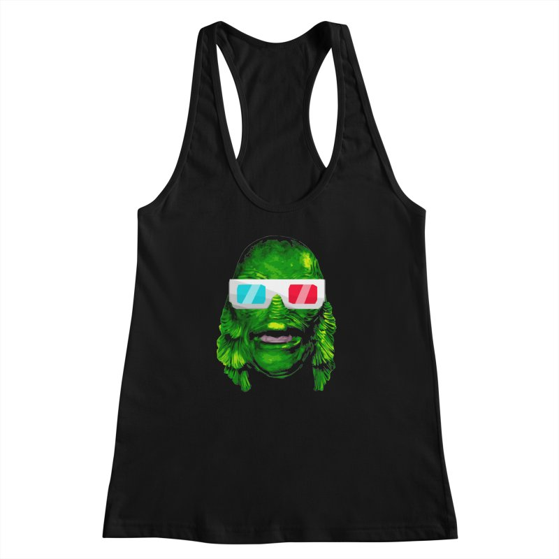 3-D MONSTER Women's Racerback Tank by Brimstone Designs
