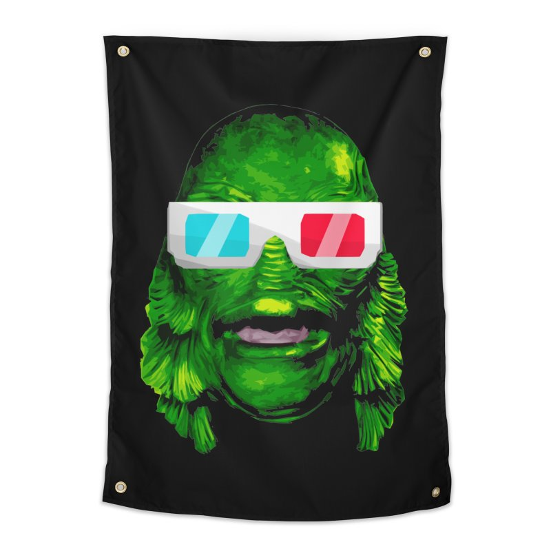 3-D MONSTER Home Tapestry by Brimstone Designs
