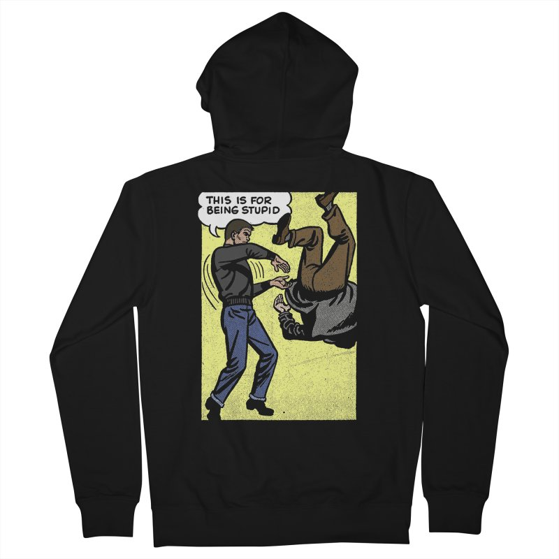 STUPID Men's French Terry Zip-Up Hoody by Brimstone Designs