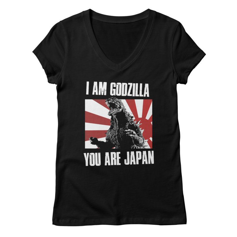 YOU ARE JAPAN Women's Regular V-Neck by Brimstone Designs
