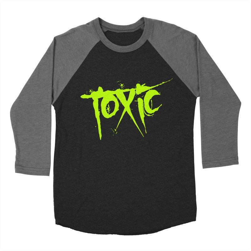 TOXIC Men's Baseball Triblend Longsleeve T-Shirt by Brimstone Designs