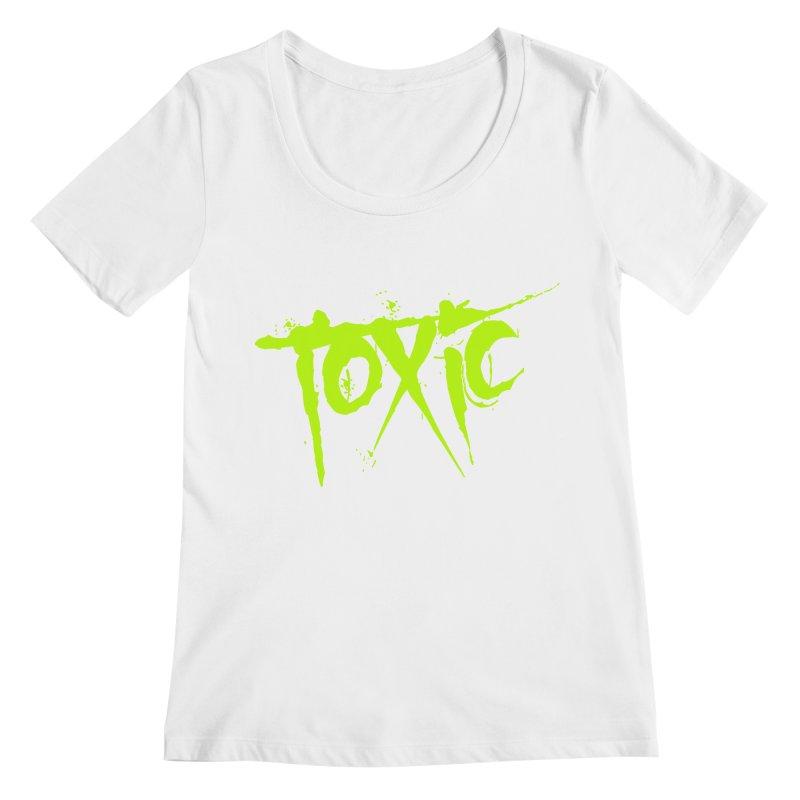 TOXIC Women's Regular Scoop Neck by Brimstone Designs