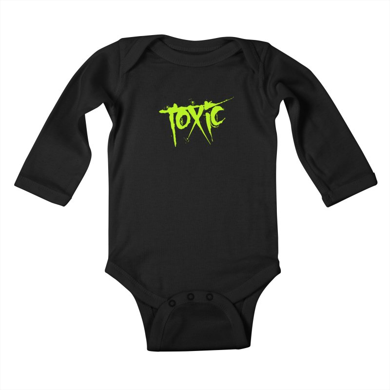 TOXIC Kids Baby Longsleeve Bodysuit by Brimstone Designs