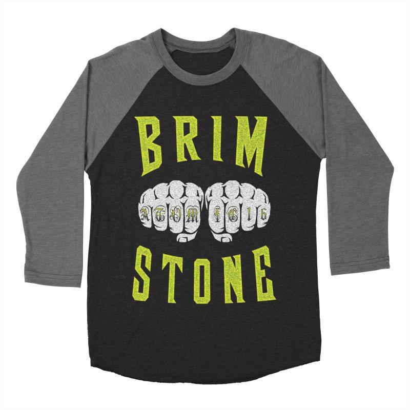 KNUCKLES Men's Baseball Triblend Longsleeve T-Shirt by Brimstone Designs