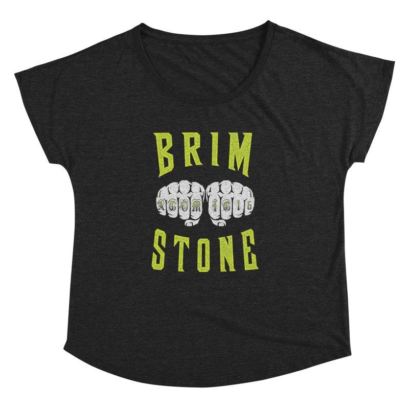 KNUCKLES Women's Dolman Scoop Neck by Brimstone Designs