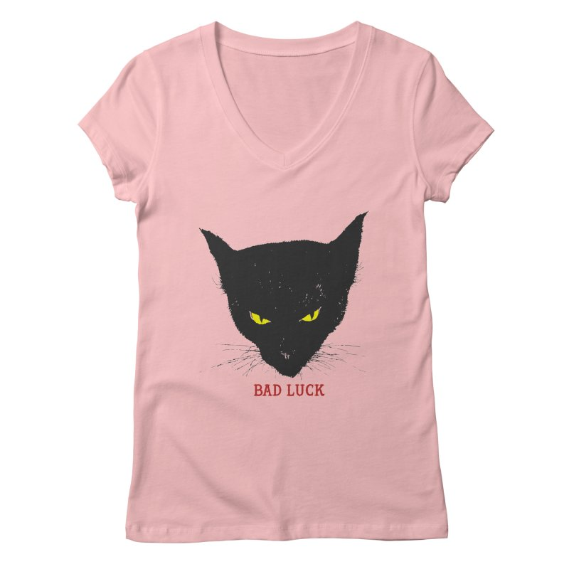 bad luck Women's V-Neck by Brimstone Designs