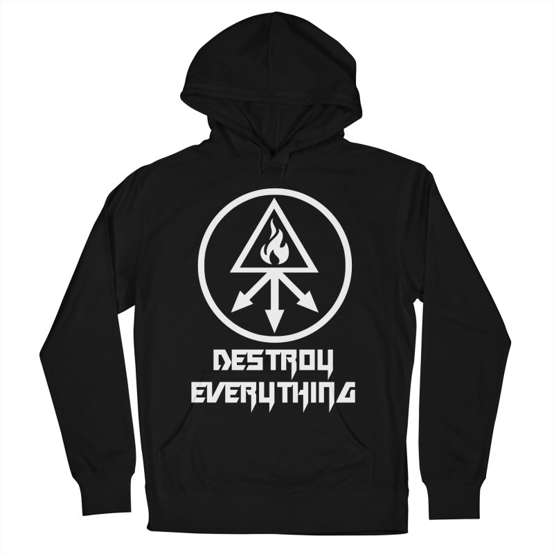 DESTROY EVERYTHING Men's French Terry Pullover Hoody by Brimstone Designs