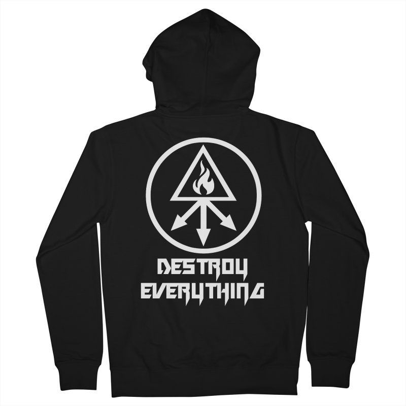 DESTROY EVERYTHING Men's French Terry Zip-Up Hoody by Brimstone Designs