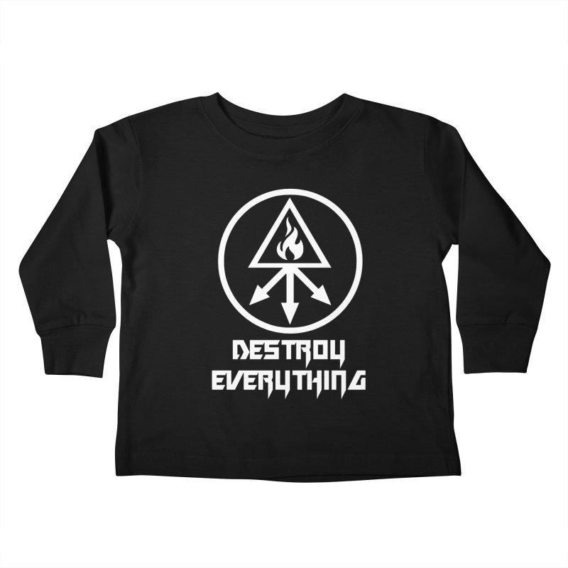 DESTROY EVERYTHING Kids Toddler Longsleeve T-Shirt by Brimstone Designs