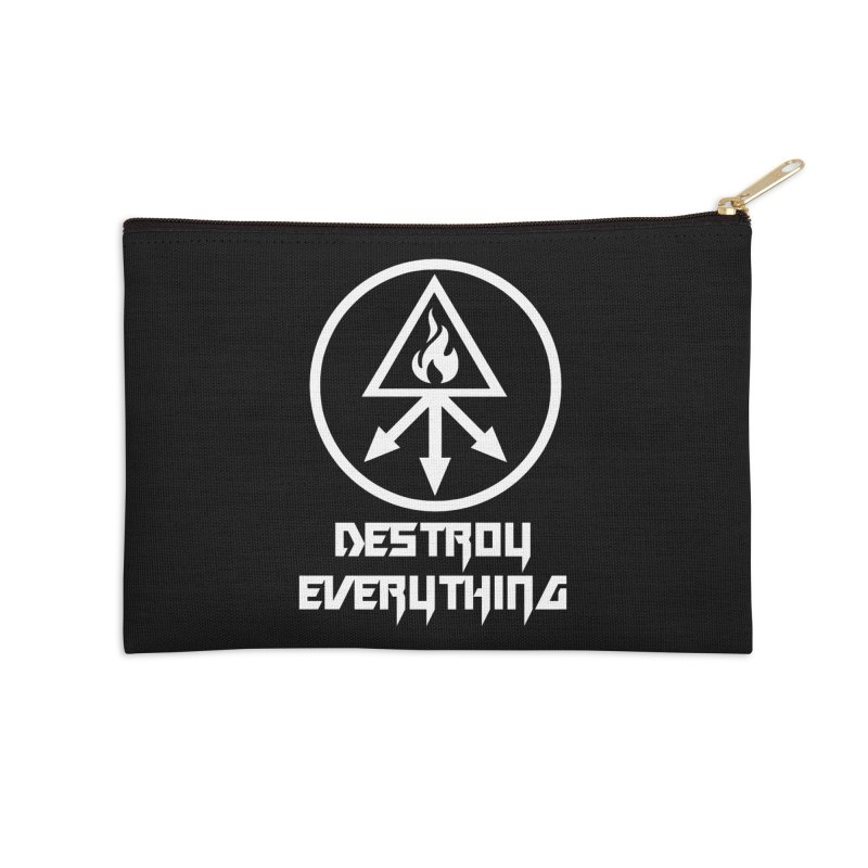 DESTROY EVERYTHING Accessories Zip Pouch by Brimstone Designs