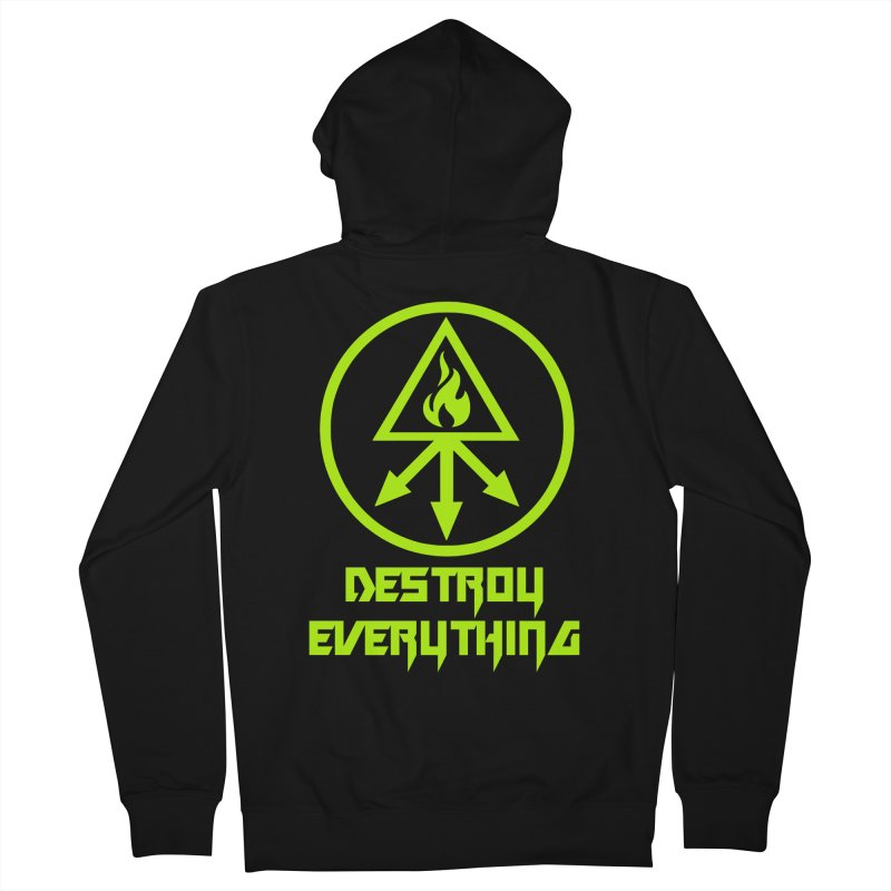 DESTROY EVERYTHING Women's French Terry Zip-Up Hoody by Brimstone Designs