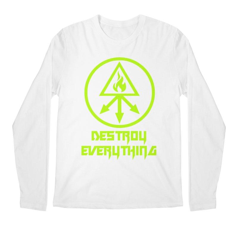 DESTROY EVERYTHING Men's Regular Longsleeve T-Shirt by Brimstone Designs