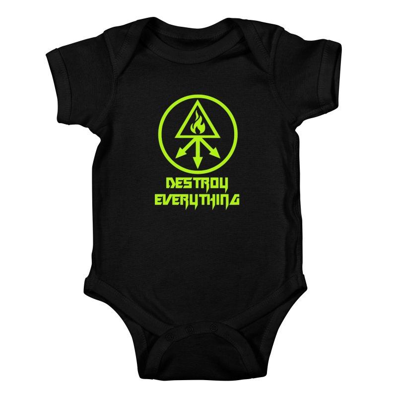 DESTROY EVERYTHING Kids Baby Bodysuit by Brimstone Designs