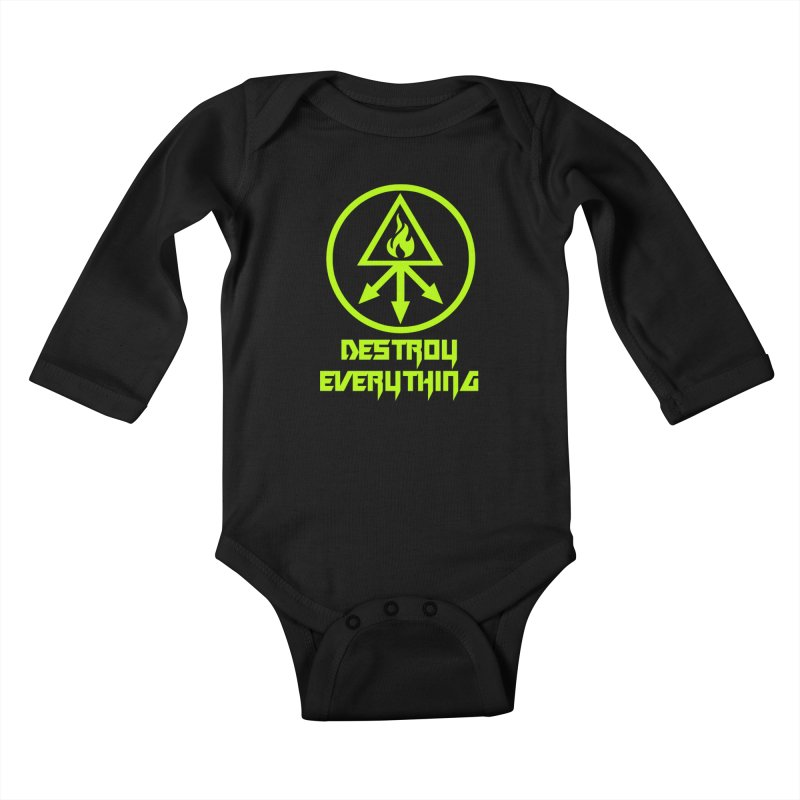 DESTROY EVERYTHING Kids Baby Longsleeve Bodysuit by Brimstone Designs