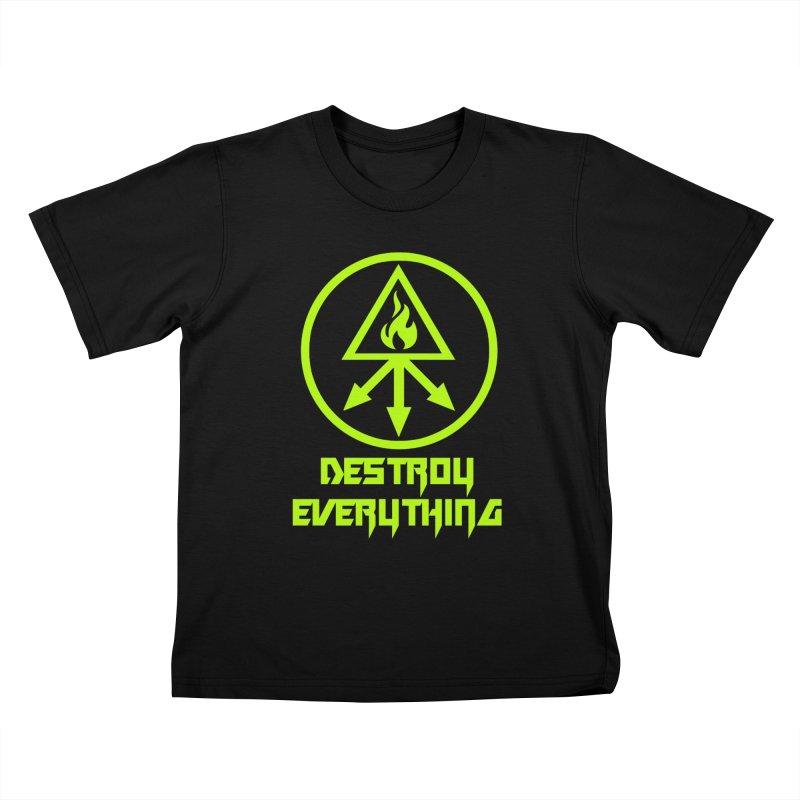 DESTROY EVERYTHING Kids T-Shirt by Brimstone Designs
