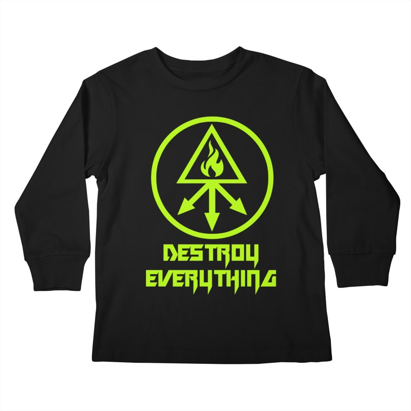 DESTROY EVERYTHING Kids Longsleeve T-Shirt by Brimstone Designs