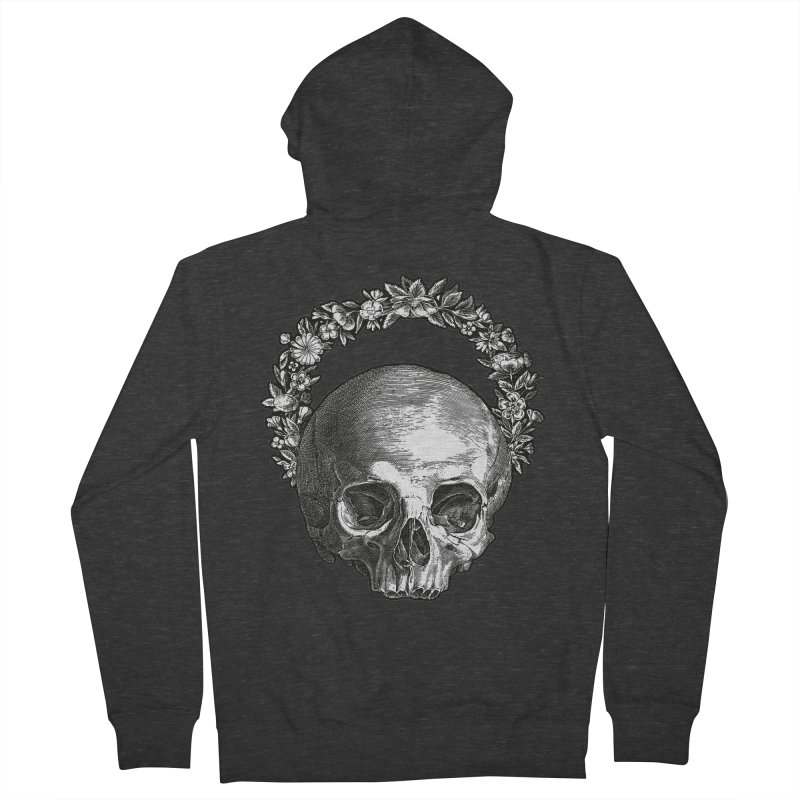Memento mori Men's French Terry Zip-Up Hoody by Brimstone Designs