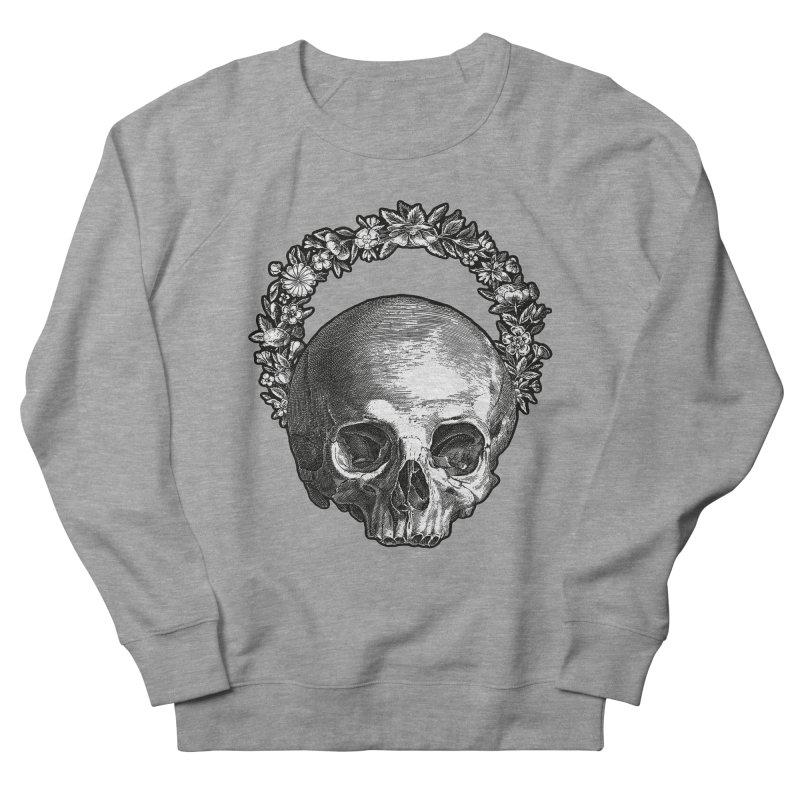 Memento mori Men's French Terry Sweatshirt by Brimstone Designs