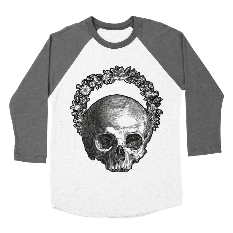 Memento mori Men's Baseball Triblend Longsleeve T-Shirt by Brimstone Designs