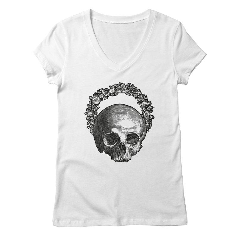 Memento mori Women's Regular V-Neck by Brimstone Designs