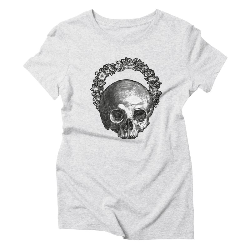 Memento mori Women's Triblend T-Shirt by Brimstone Designs