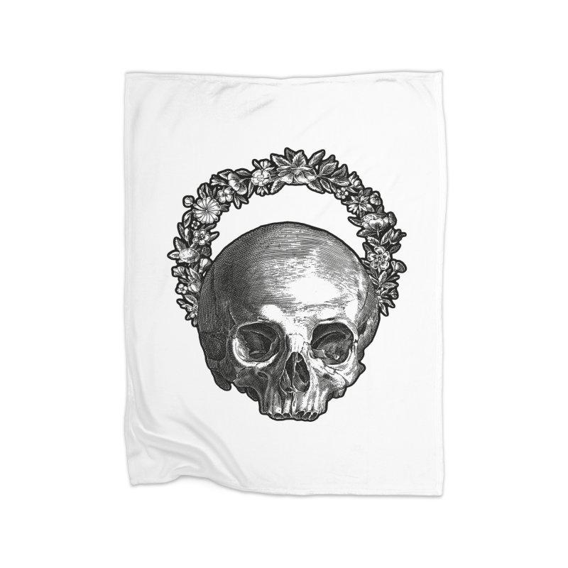 Memento mori Home Blanket by Brimstone Designs