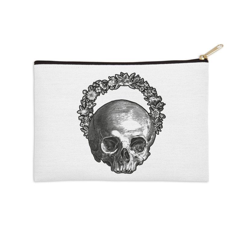 Memento mori Accessories Zip Pouch by Brimstone Designs