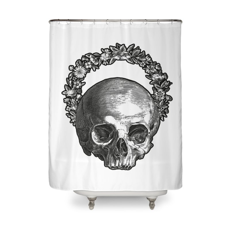 Memento mori Home Shower Curtain by Brimstone Designs