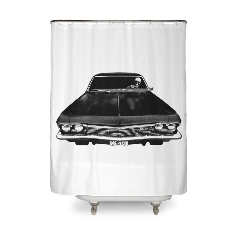 DEATH RIDE Home Shower Curtain by Brimstone Designs