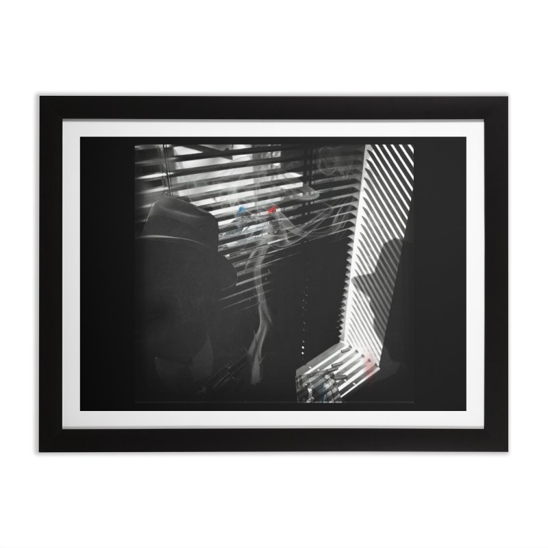 The Smoking Gun in Framed Fine Art Print Black by bristolnoir's Artist Shop