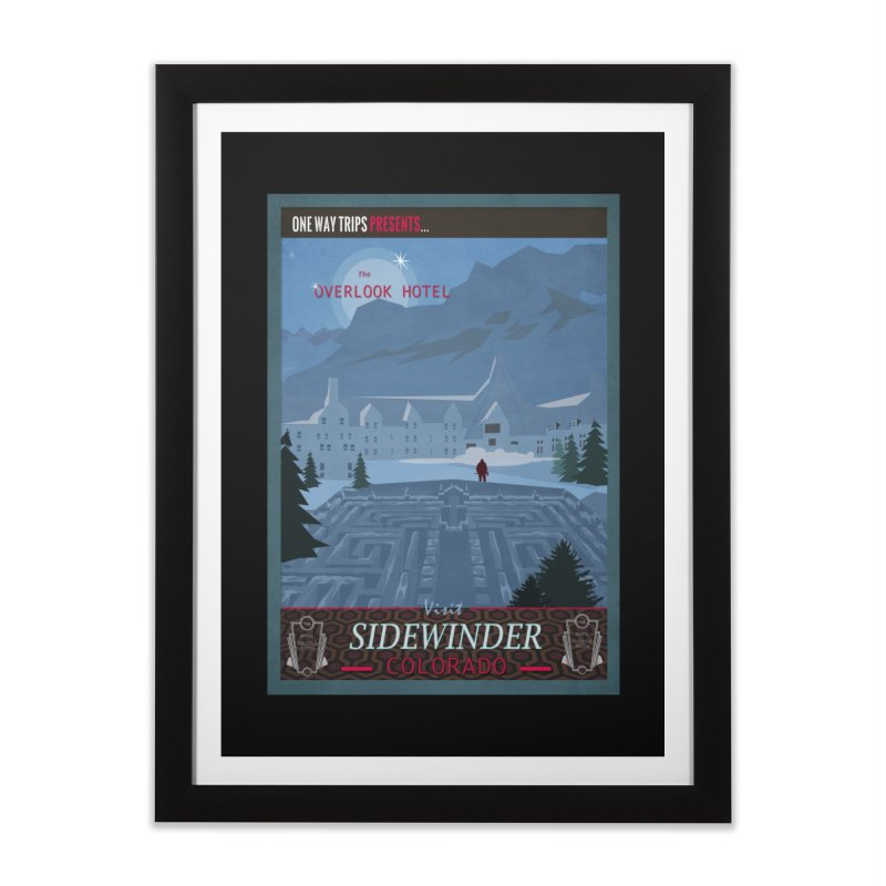 Visit Sidewinder Colorado - Overlook Hotel in Framed Fine Art Print Black by bristolnoir's Artist Shop