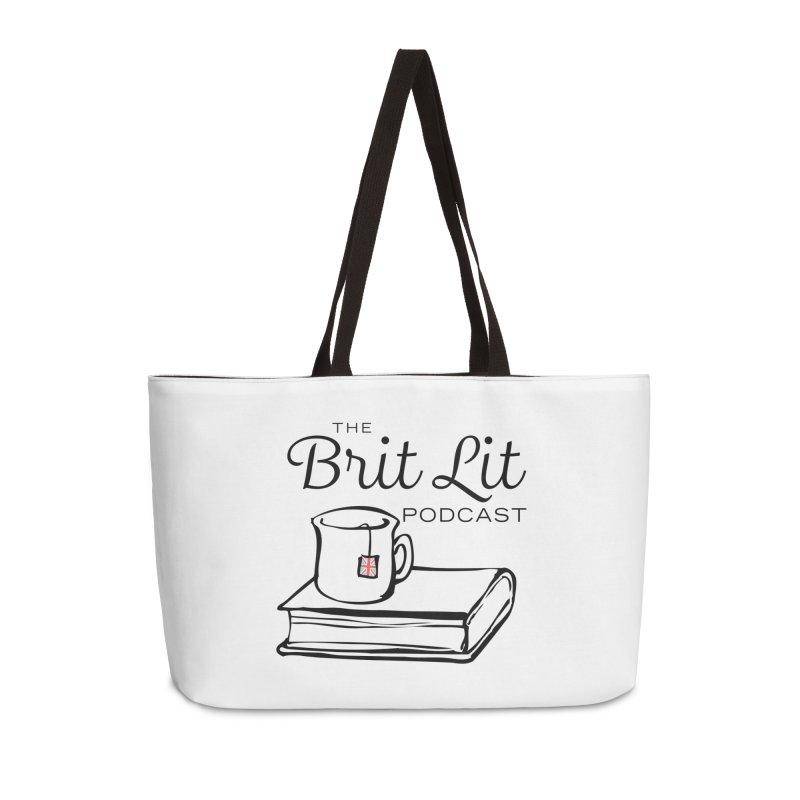 Brit Lit Podcast logo Accessories Weekender Bag Bag by britlitpodcast's Artist Shop