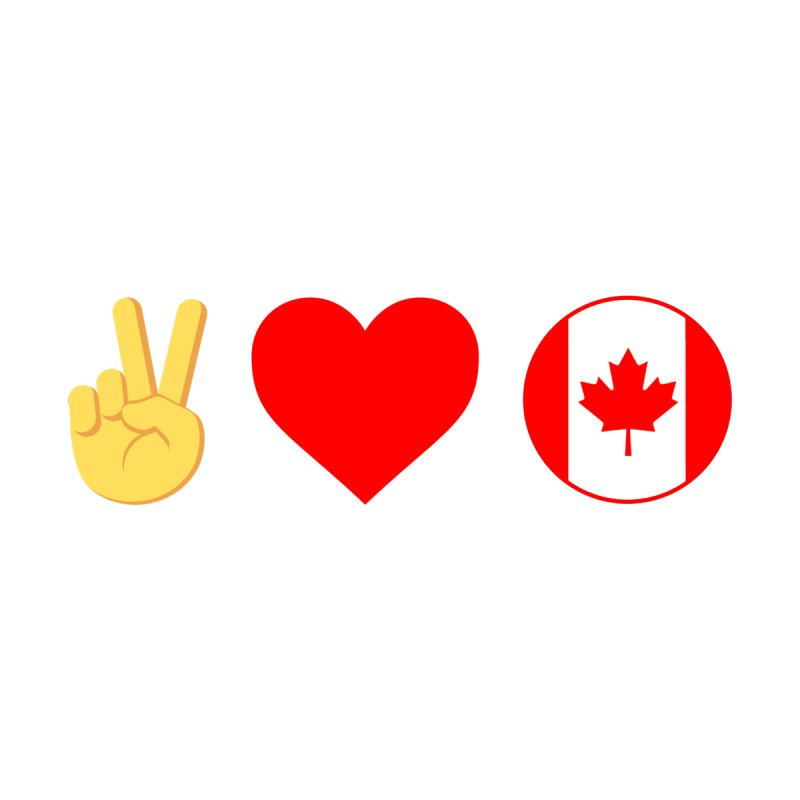 PEACE LOVE CANADA Home Throw Pillow by THE BRITTLESTORE